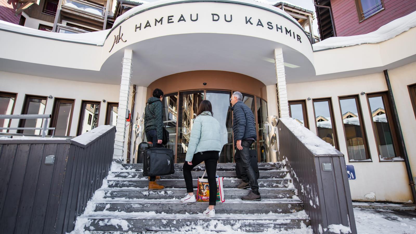 Your arrival at the Hameau du Kashmir in Val Thorens