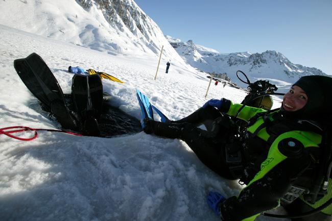 La plongée sous glace en altitude