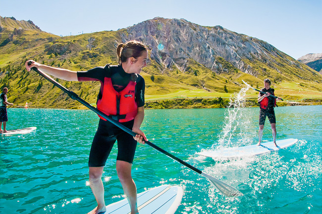 Paddle sur le lac de Tignes